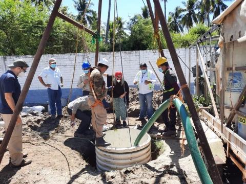 Visita al Sistema de Bombeo de la Planta de Agua de la Isla Madresal, Usulután