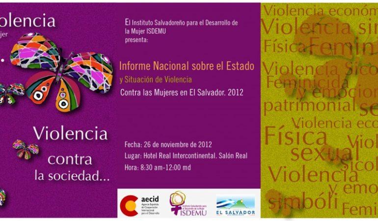 La violencia contra la mujer es violencia contra la sociedad