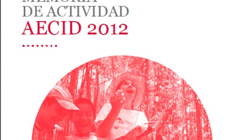 Memoria de actividad AECID 2012