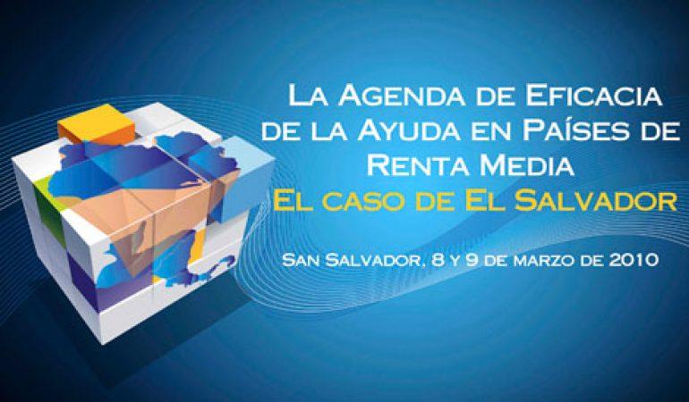 Gobierno y sociedad civil salvadoreña debaten una agenda nacional de eficacia de la ayuda