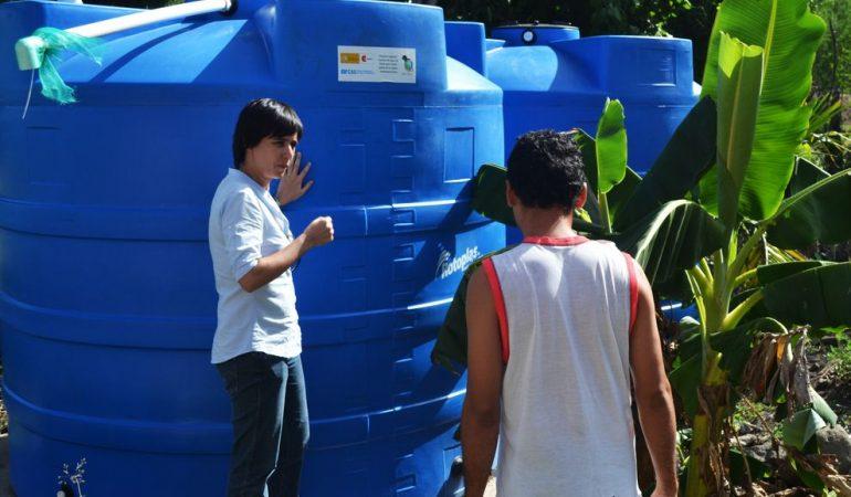2.000 familias del corredor seco centroamericano cuentan con acceso a agua potable a través de sistemas de cosecha de agua de lluvia