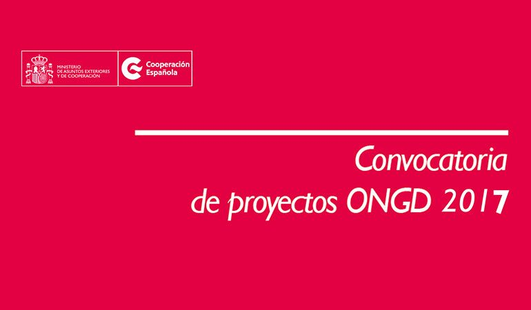 Convocatoria AECID Proyectos ONGD-2017