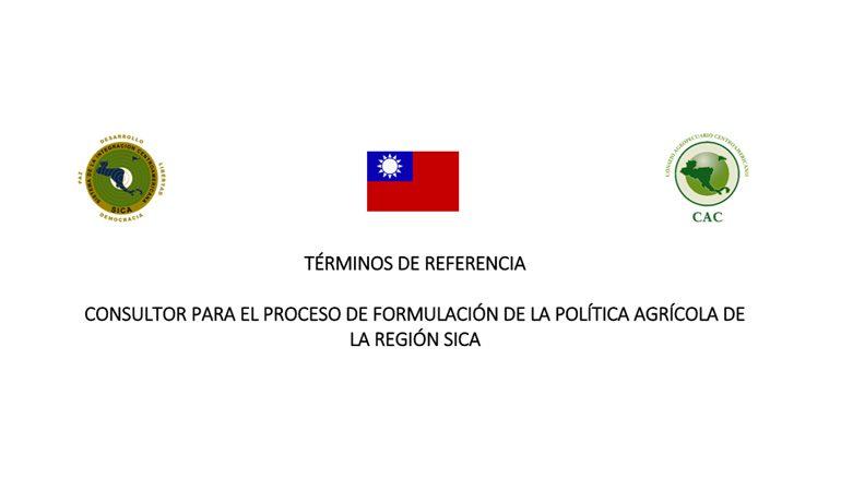 CONSULTOR PARA EL PROCESO DE FORMULACIÓN DE LA POLÍTICA AGRÍCOLA DE LA REGIÓN SICA