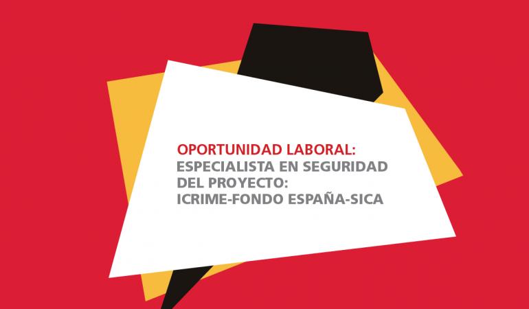 Especialista en Seguridad del Proyecto ICRIME-Fondo España-SICA