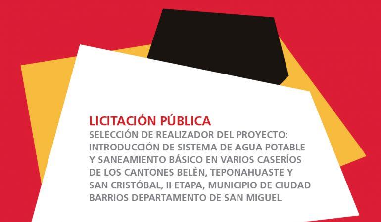 Publicación de Licitación Pública en Ciudad Barrios