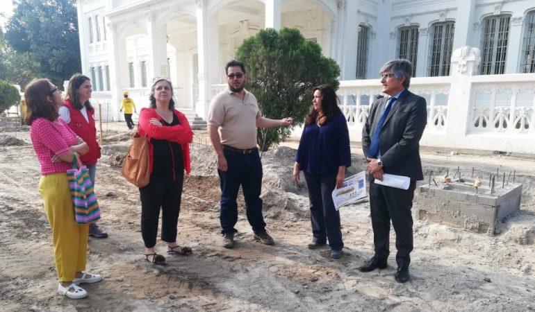 AECID y MARN verifican avances en el Complejo San Jacinto