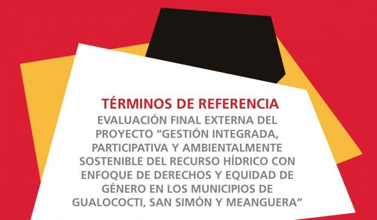 Términos de Referencia de evaluación final de proyecto de Solidaridad Internacional País Valenciano