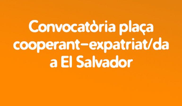 Convocatoria Plaza de Cooperando-Expatriado / a en El Salvador
