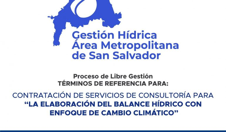 TDR: Contratación de servicios de consultoría: «Elaboración del balance hídrico con enfoque  de cambio climático»