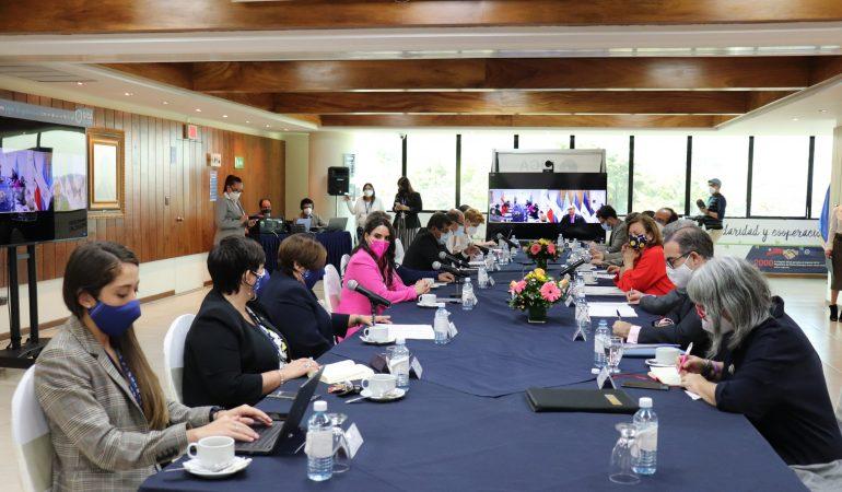 Diálogo entre Secretaria de Estado de Asuntos Exteriores para Iberoamérica y el Caribe, Secretario General del SICA y Secretarios de Subsistema del SICA.