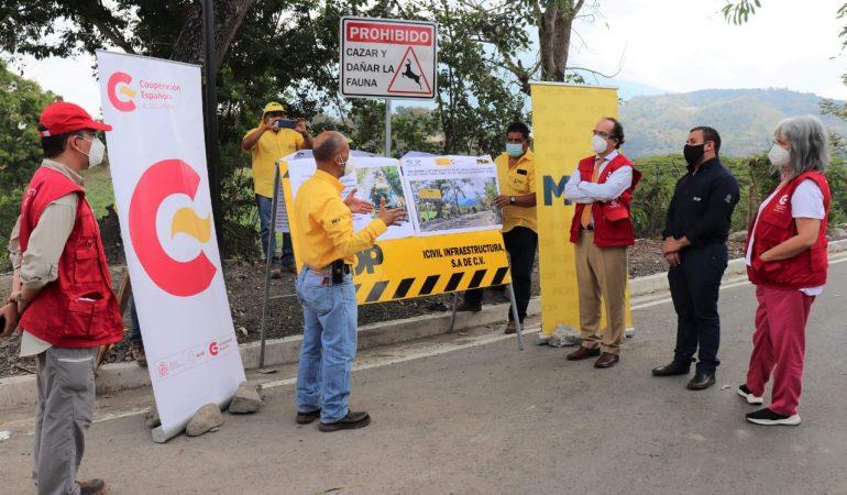 Proyecto Caminos Rurales: Inauguración del tramo Verapaz-Mercedes La Ceiba y Ramal, Departamentos de San Vicente y La Paz